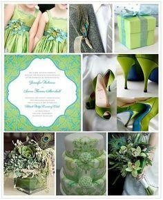 JADE GREEN & ICE BLUE WEDDING THEMES   Blue & Green inspiration board