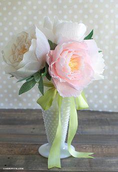 Make DIY paper peonies centerpiece