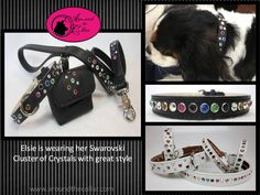 Coordinating sets for your furry friends. www.aroundthecollar.com  The handset Swarovski Crystals sparkle with color and quality