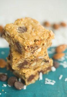 Almond Joy Cookie Bars | browneyedbaker.com #recipe