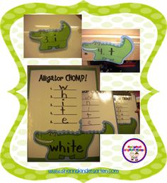 Alligator CHOMP word game. FREE download to play this game at school or home too!