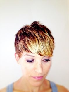 blonde/brown ombre for short hair - Google Search