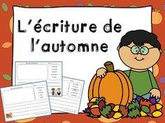 French fall writing - L'écriture de l'automne