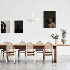 "Maison Trouvaille on Instagram: ""Obsessed with these dining chairs and art work. . . . . . . 📷: @normarchitects #maisontrouvaille #airick76 #boho #designsituation…"""