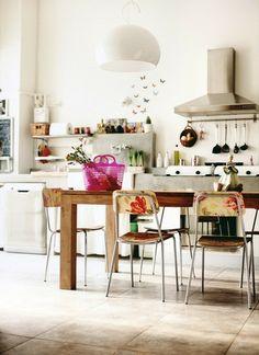 Boho Decor Kitchen + Dining Space | Bohemian Living