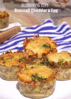 Broccoli Cheddar Egg Hashbrowns Cups