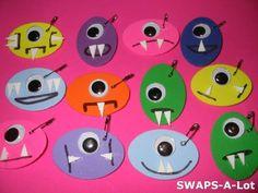 Mini Alien Halloween Monster SWAPS Kit for Girl Kids Scout makes 25