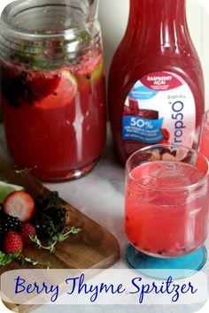 Berry Thyme Spritzer  - perfect for a #GirlsNightIn  | Cooking In Stilettos    http://cookinginstilettos.com/berry-thyme-spritzer/   #Berry #Mocktail #Spon #Recipe