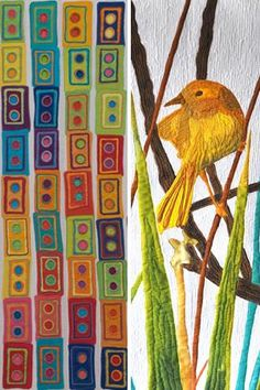 Pretty bird art quilt