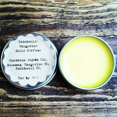 Fresh Picked Beauty: Patchouli-Tangerine Solid Perfume