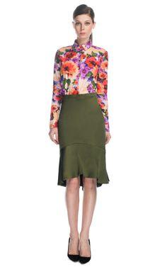 Satin Flare Skirt by Patrícia Viera for Preorder on Moda Operandi