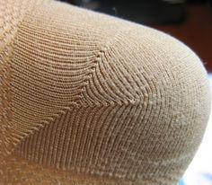 Forked heel - hand knit, double short row style heel recipe