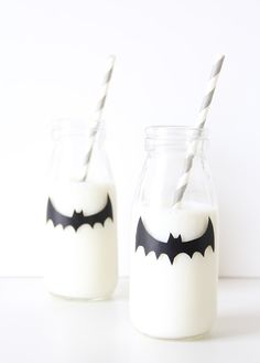 Halloween Party Ideas: Spooky Milk Bottle Party Favors