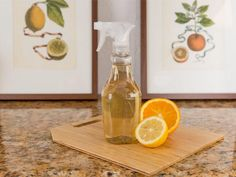 DIY Citrus All-Purpose Cleaner: Infuse orange peels in vinegar for two days. Add one cup of this infusion to one cup of warm water and pour into a spray bottle for a hardworking, natural cleaner.