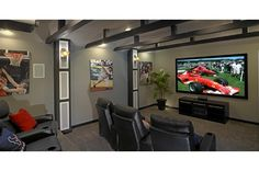 Mega Media Rooms on Pinterest