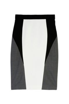 """""""I love how the graphic tones of this sleek pencil skirt will flatter my curves. This will be my year 'round wear-everywhere piece."""" -Lisa Tant VP Fashion Editor #InvestmentDressing #AquilanoRimondi"""