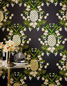 pineapple wallpaper / Rifle Paper Co. with Hygge & West