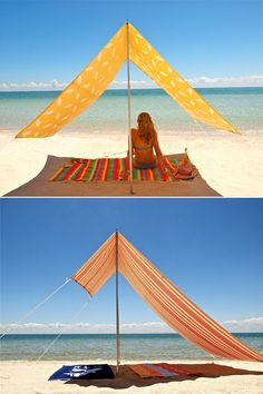 beach tent. i like it.