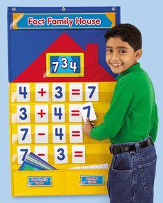 houses, famili hous, center idea, math mad, fact famili, families, dream classroom, math idea, januari idea