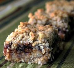 "Oatmeal & Apple Butter Bars: ""Delicious bars! They're pretty enough to serve to company and easy enough for school lunch box treats."" -Cookin-jo #CookingWithKARE"