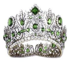 Marie-Louise Emerald and Diamond Diadem