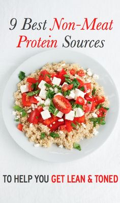 9 best sources of non-meat protein to help you get lean and toned. meateat, get lean, nonmeat protein, food, healthi, yum, protein sourc, recip, non meat protein