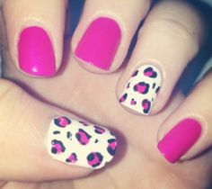 Pink, Black and White Leopard Print
