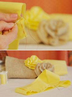 How to make fabric flowers.
