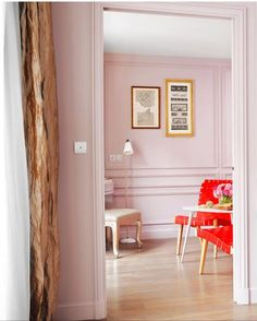 Pink just like our living room!