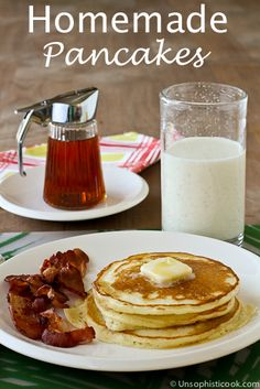 Homemade Pancakes | Unsophisticook.com -- when you keep a homemade mix on hand, delicious pancakes from scratch are only minutes away!