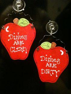 Apple Dishwasher sign fruit kitchen decor Dishes by EvansCraftHut, $5.95