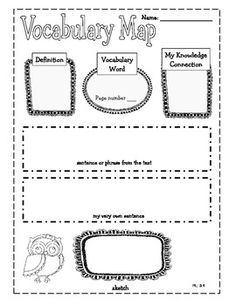 Owl Themed Common Core Reading Literature Graphic Organizers for 3rd Grade