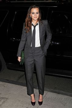 Must Try: PANTSUITS! so the tie might not be for everyone but the cropped tab front pant and classic jacket are!