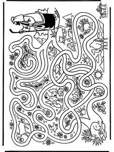 Shepherd looking for sheep maze
