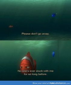 Finding nemo. Makes me cry every time.
