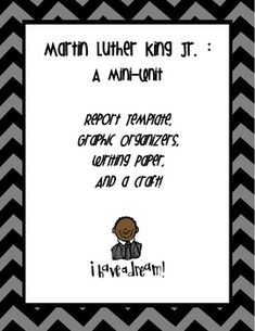 3rd grade book report on martin luther king jr