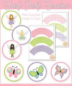 Peonie e semi di papavero: Fata Partito Cupcake Stampabili