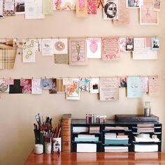a happy + organized desk
