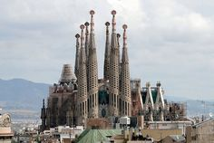 Basilica of the Sagrada Família in Barcelona.  Construction began in 1882 and is expected to be completed in 2026.