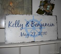 Great keepsake for nautical themed weddings!
