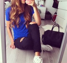 street style, casual outfits, hair color, curl hair