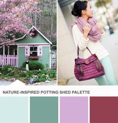 Tuesday Huesday: Potting Shed #Color Inspiration (http://blog.hgtv.com/design/2013/06/04/tuesday-huesday-potting-shed-color-inspiration/?soc=pinterest)