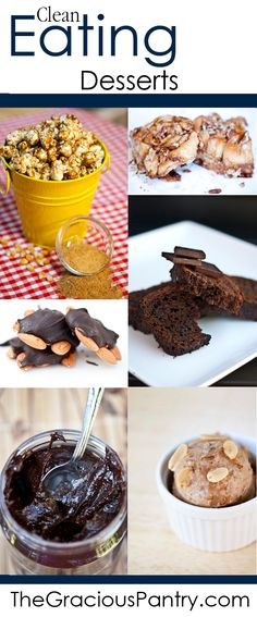 Clean and healthy dessert recipes for every occasion. #cleaneating #cleaneatingrecipes #eatclean #healthyrecipes #recipes #dessert #dessertrecipes