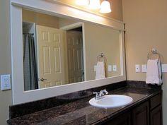 diy framed bathroom mirror 2