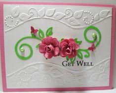simple and elegant well rose, card inspir, scrapbook card, flower card, occas card, die card, card wflower, creativ card, flower spray