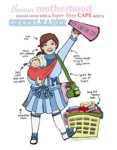 The Cheerleader for Tired Moms: a Free Printable and EBook from thegypsymama.com