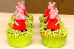Peppa Pig Cupcake recipe with how-to-guide #peppapig