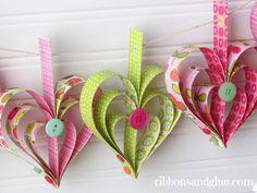 Crafts: Heart Garland Tutorial.