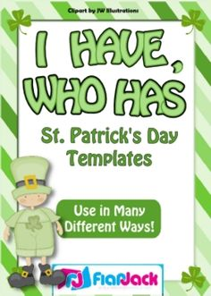 Cute I Have/You Have template to fill in!  FREE on TpT! holiday, games, march, school, templates, st patricks day, patti, classroom freebi, game templat