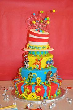 Dr.seuss birthday cake ideas
